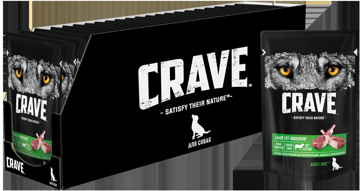 Консервы для собак CRAVE Adult с Ягнёнком, 85г х 24 шт