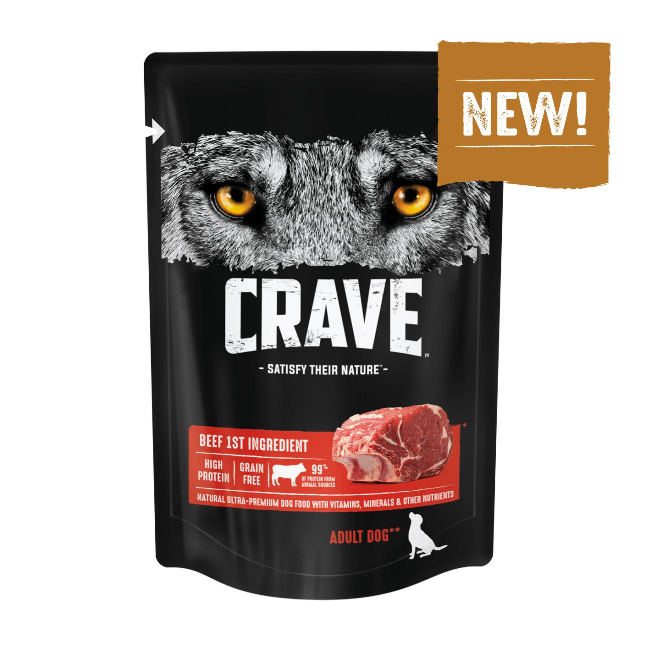 Консервы для собак CRAVE Adult с Говядиной, 85 г х 24 шт