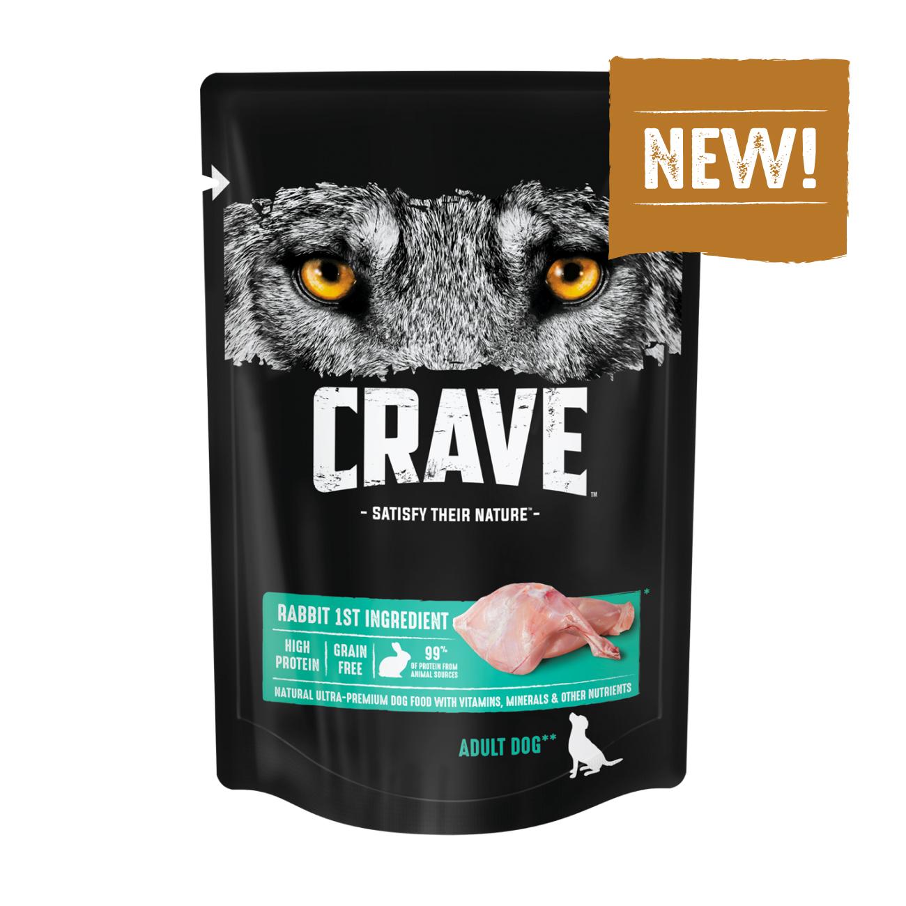 Консервы для собак CRAVE Adult с Кроликом, 85г х 24 шт