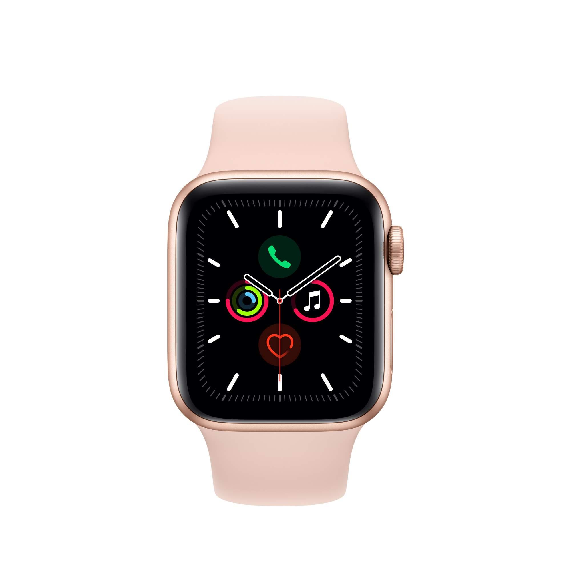 Смарт-часы Apple Watch S5 GPS 40mm Gold Sport Band (MWV72RU/A)