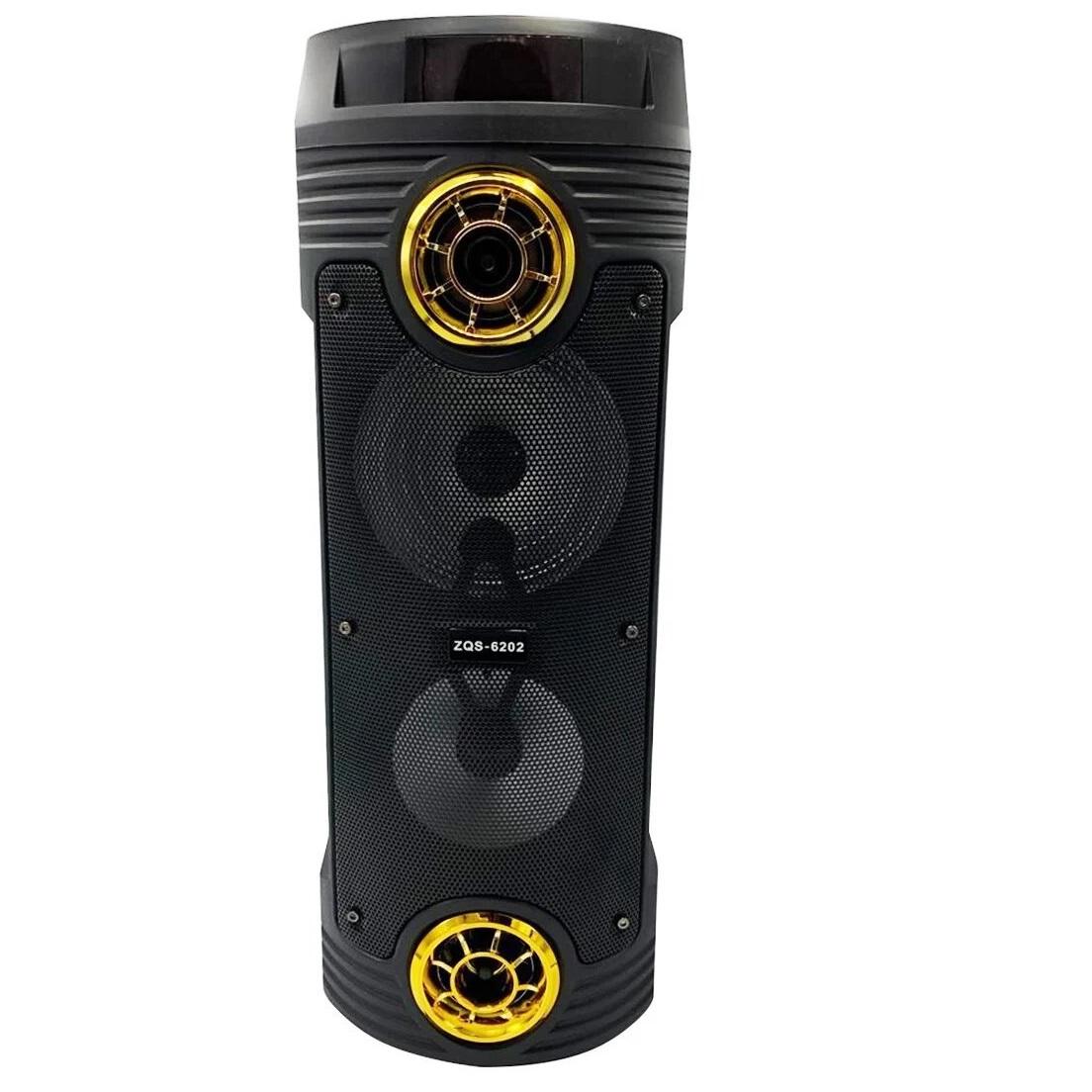 Акустика портативная BT SPEAKER ZQS-6202 Bluetooth Gold