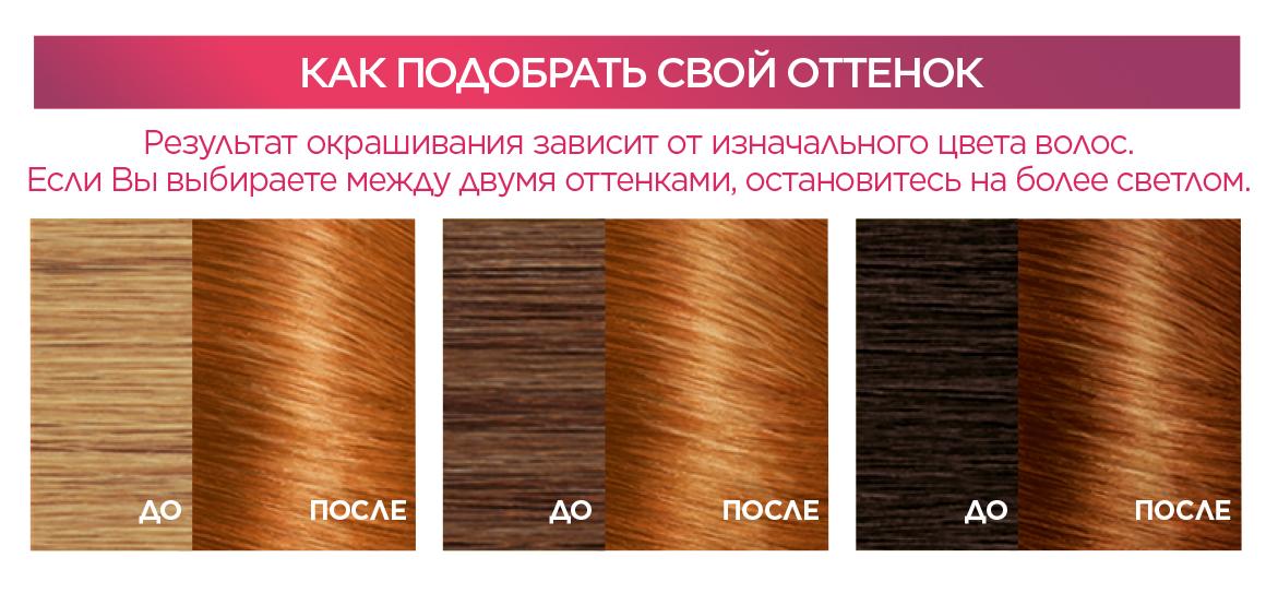 """Миниатюра Крем-краска для волос L'Oreal Excellence стойкая тон 7.43 """"Медный русый"""" №3"""