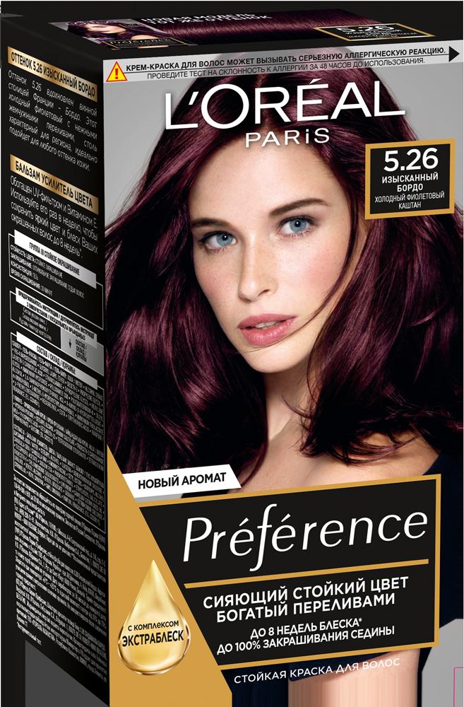 Миниатюра Краска для волос L'Oreal Paris Preference 5.26 Изысканный Бордо №1