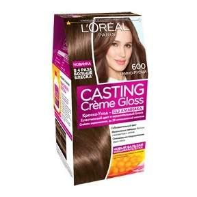 Миниатюра Краска для волос L`Oreal Paris Сasting Creme Gloss 600 темно-русый №1