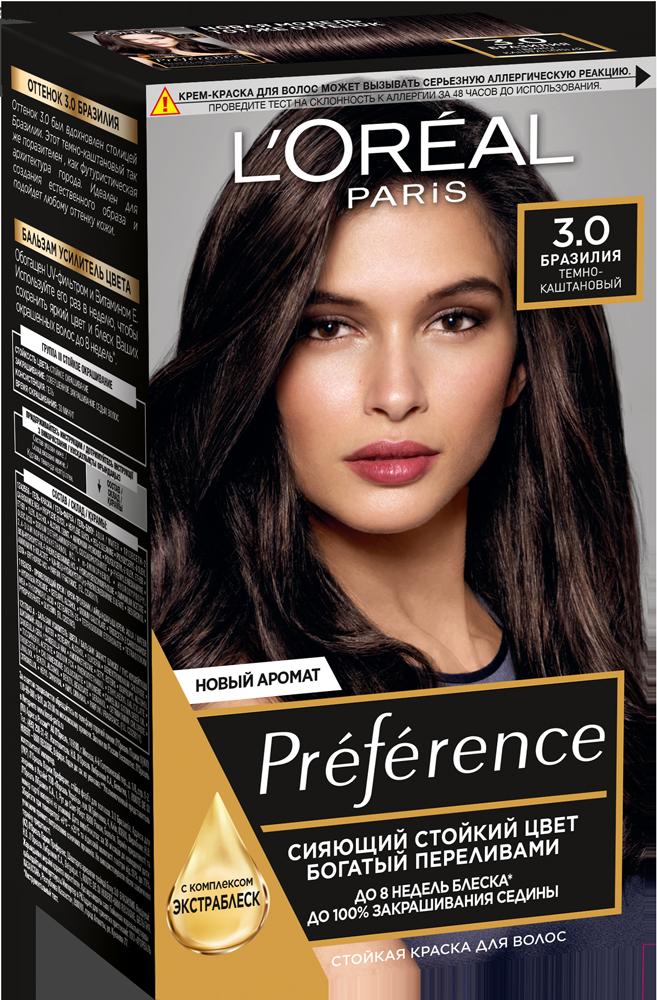 Миниатюра Краска для волос L'Oreal Paris Preference тон 3 бразилия 40мл №1