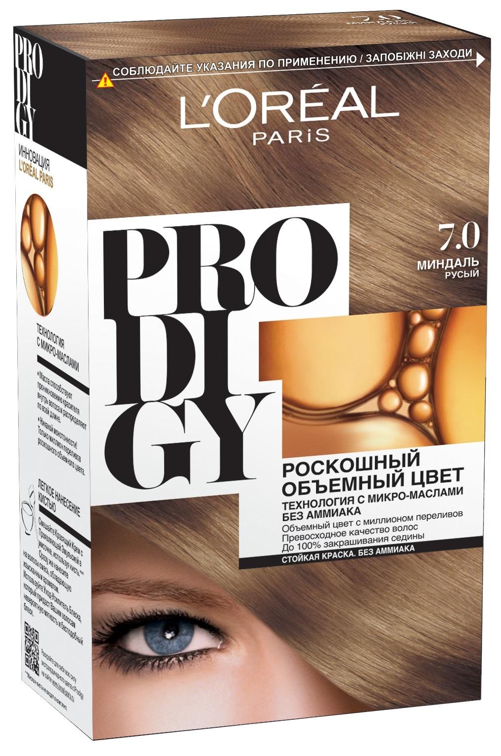 Миниатюра Краска для волос L`Oreal Paris Prodigy тон 7.0 миндаль №1