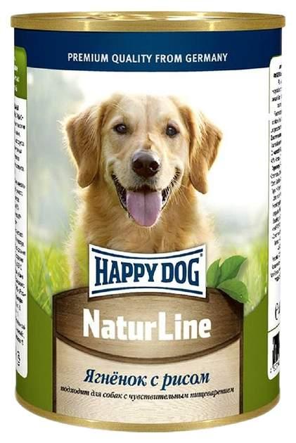 Фотография Консервы для собак Happy Dog NaturLine, ягненок, рис, 20шт по 400г №1