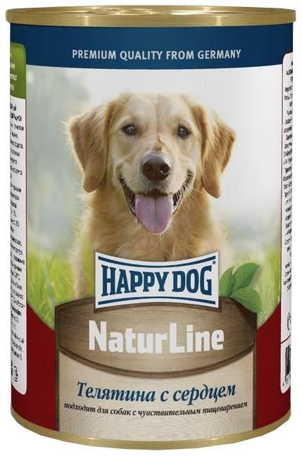Консервы для собак Happy Dog NaturLine, с телятиной и сердцем, 20шт по 400г