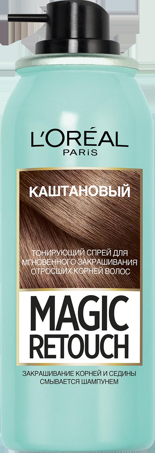Миниатюра Спрей для волос L'Oreal Paris MAGIC RETOUCH 3 Каштан Тонирующий №5