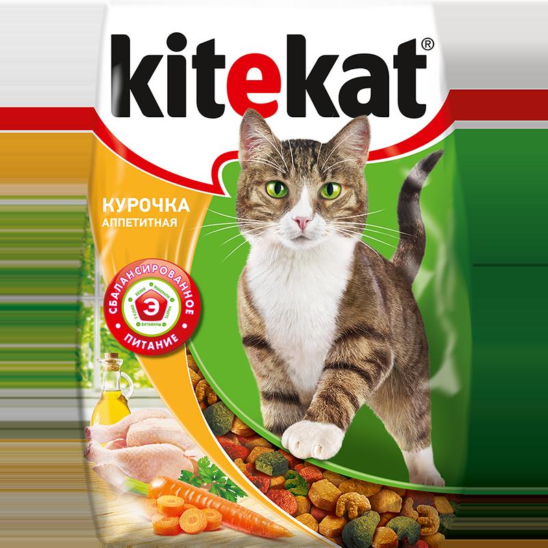 Сухой корм для кошек Kitekat, аппетитная курочка, 0,35кг