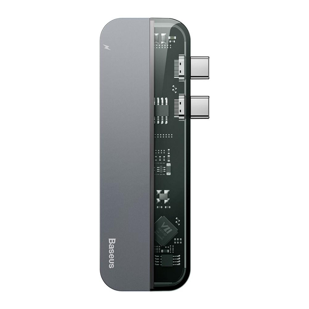 USB-концентратор Baseus Transparent Series Dual Type-C Multifunctional HUB Adapter