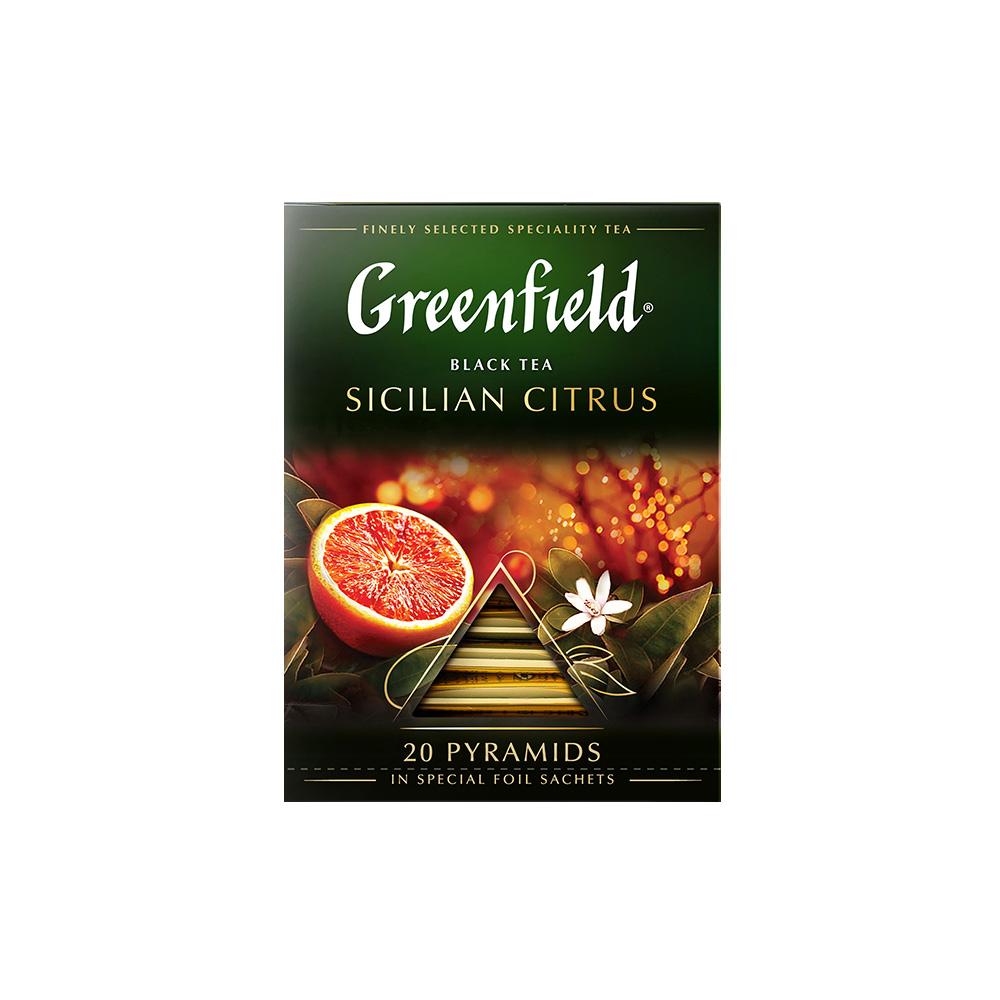 Чай черный в пирамидках Greenfield Sicilian Citrus 20 пакетиков