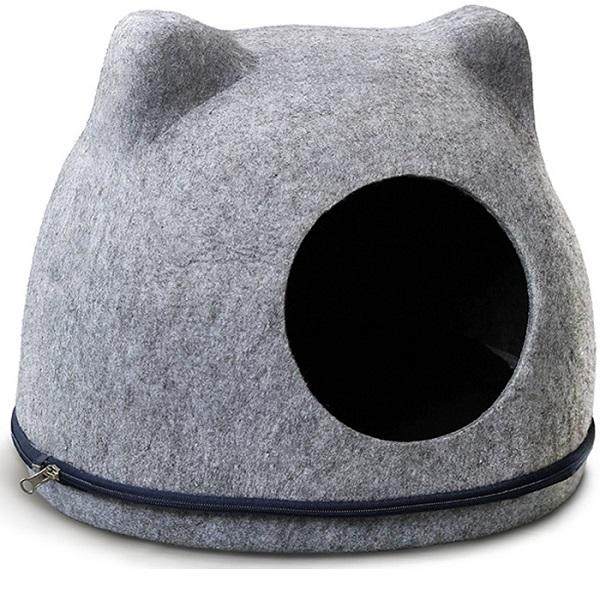 Домик для кошек Triol Кошкин Дом, серый, 43x34x34см