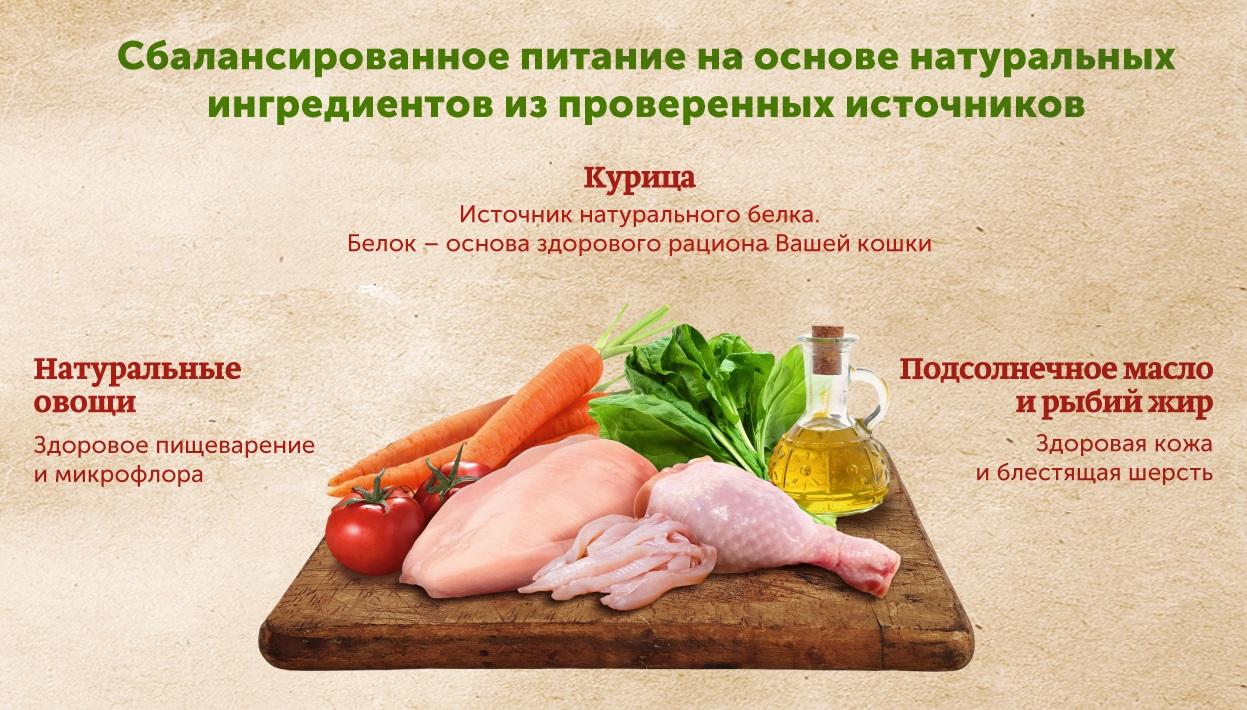 Миниатюра Влажный корм для кошек Nature's Table Курица в соусе, 24 шт по 85г №4