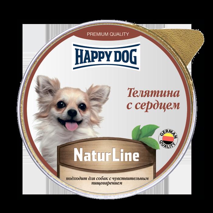 Фотография Влажный корм для собак Happy Dog Natur Line, телятина, сердце, 10шт, 125г №1