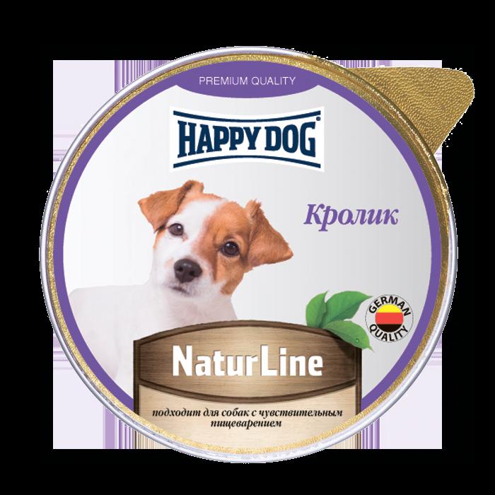 Миниатюра Влажный корм для собак Happy Dog Natur Line, кролик, 10шт, 125г №1
