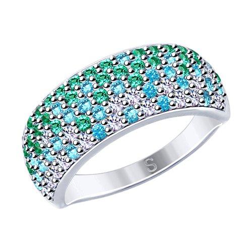 Кольцо женское SOKOLOV из серебра с фианитами 94012528 р.16