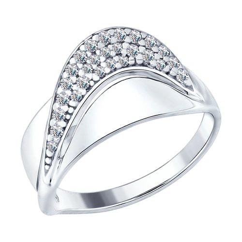 Кольцо женское SOKOLOV из серебра с фианитами 94012420 р.16.5