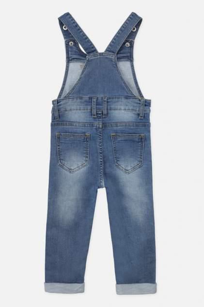 Комбинезон джинсовый для девочек PlayToday, цв. синий р.74