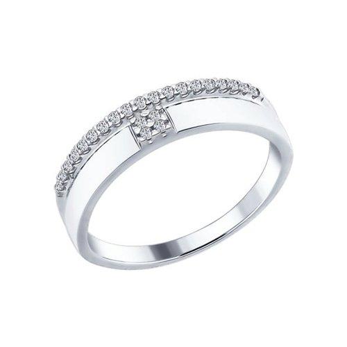 Кольцо женское SOKOLOV из серебра с фианитами 94012213 р.17.5