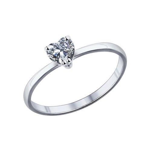 Помолвочное кольцо женское SOKOLOV из серебра с фианитом 94011721 р.17.5