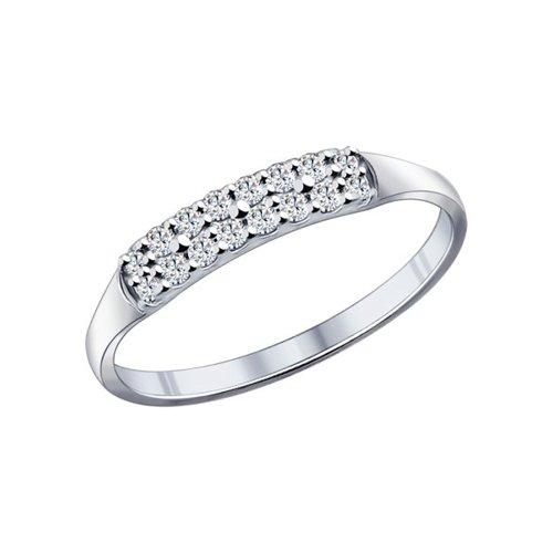 Кольцо женское SOKOLOV из серебра с фианитами 94011716 р.17