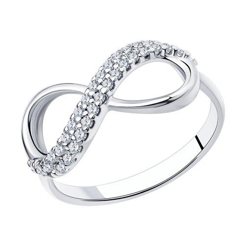 Кольцо женское бесконечность SOKOLOV из серебра с фианитами 94011255 р.16