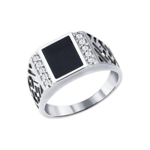 Печатка SOKOLOV из серебра с эмалью с фианитами 94010713 20