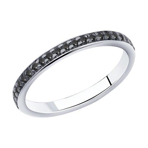 Серебряное кольцо женское с фианитами SOKOLOV 94010700 р.14.5
