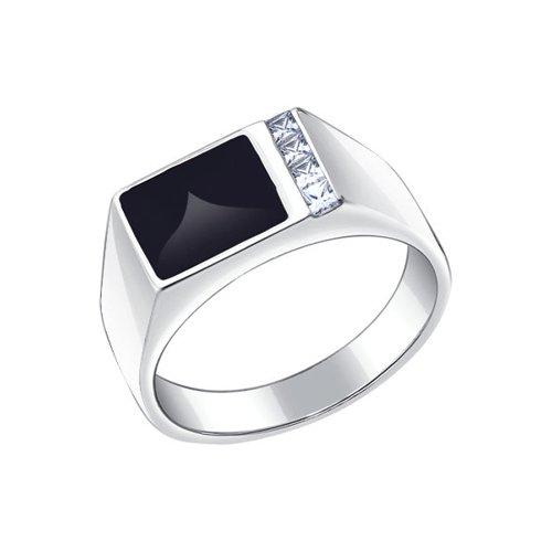 Печатка SOKOLOV из серебра с эмалью с фианитами 94010434 19