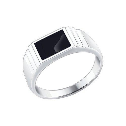 Печатка SOKOLOV из серебра с эмалью 94010432 18