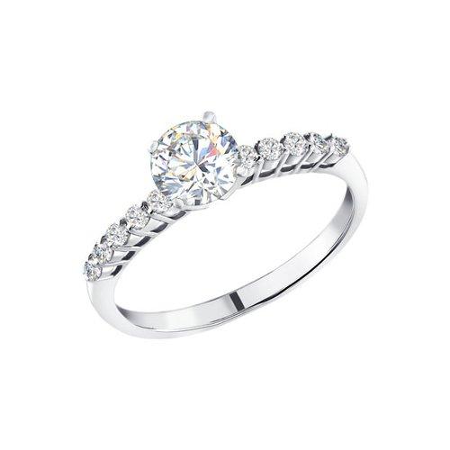 Помолвочное кольцо женское SOKOLOV из серебра с фианитами 94010157 р.16.5