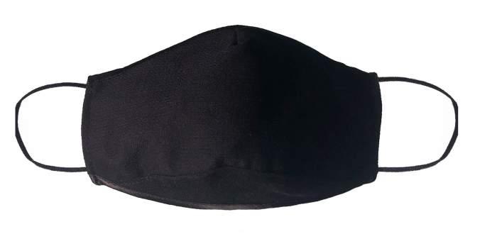 Многоразовая защитная маска Стар-текстиль 2Ч-1 черная 1 шт.