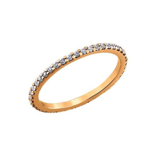 Кольцо женское SOKOLOV из серебра с фианитами 93010150 р.16