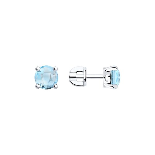Серьги женские из серебра SOKOLOV 92021130, топаз