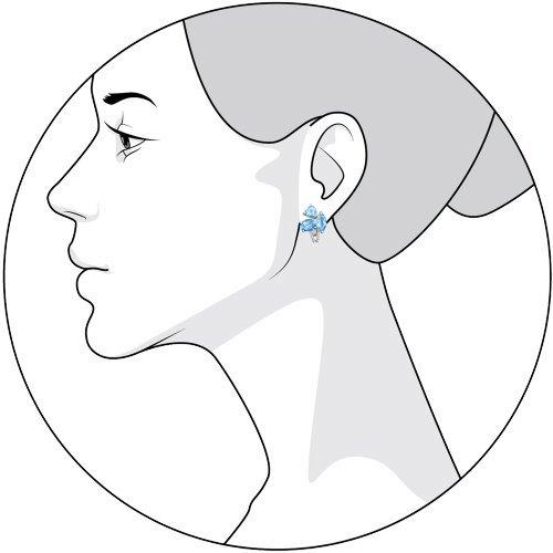 Серьги женские из серебра SOKOLOV 92021024, топаз/фианит