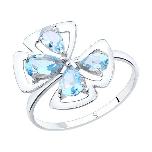 Кольцо женское SOKOLOV из серебра с топазами 92011872 р.19