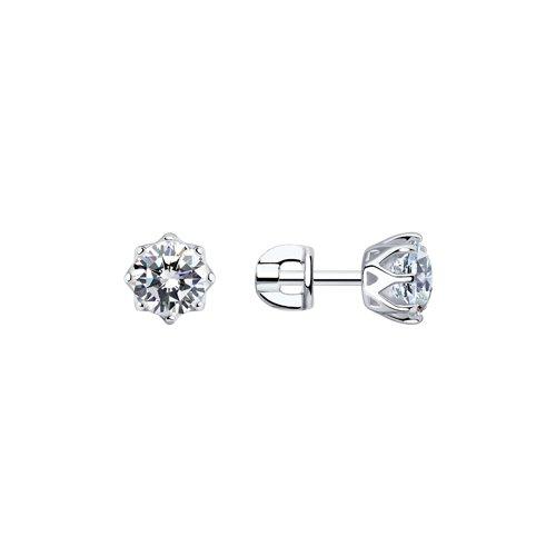 Серьги женские из серебра SOKOLOV 89020024, swarovski