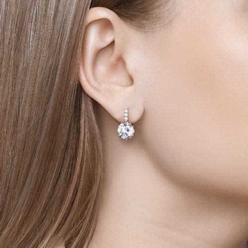 Серьги женские из серебра SOKOLOV 89020005, swarovski