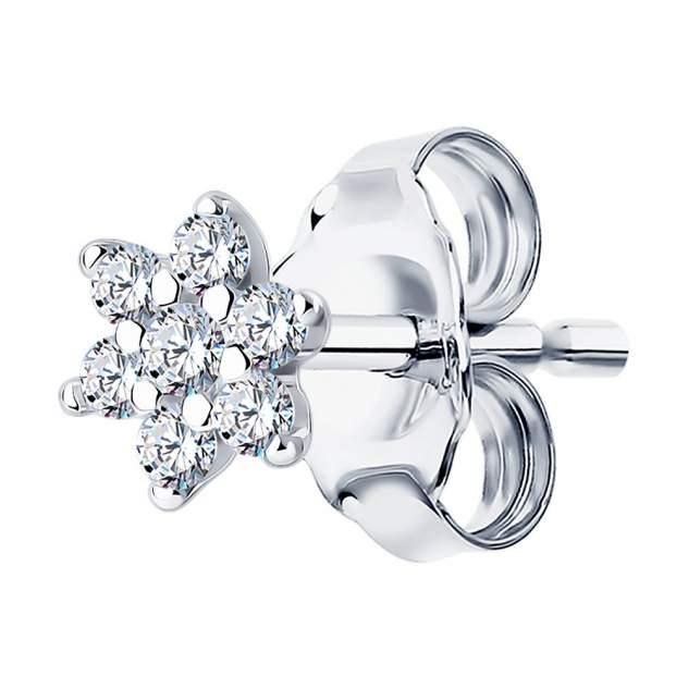 Серьги женские из серебра SKLV 94170132, фианит