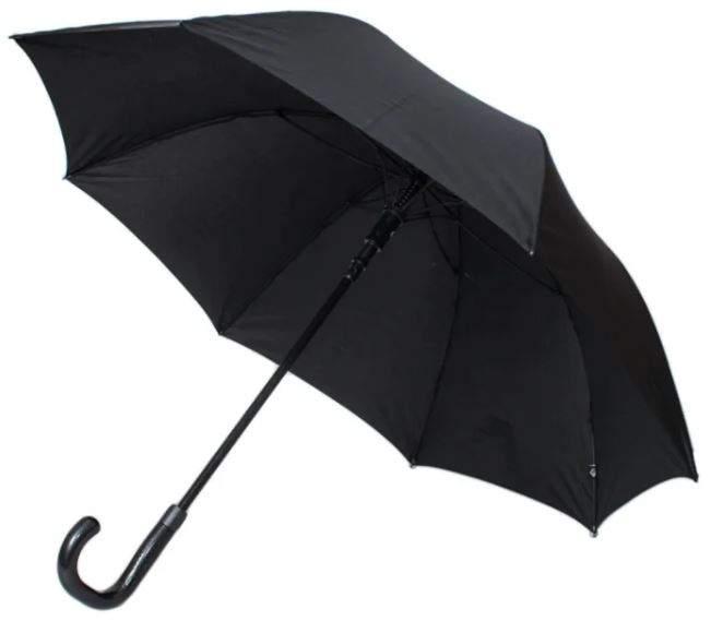 Зонт-трость мужской автоматический Flioraj 02 черный