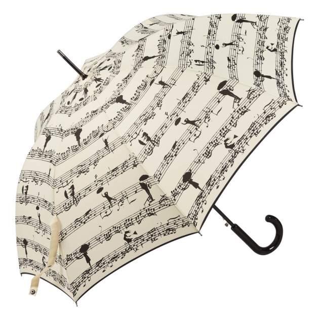 Зонт-трость женский полуавтоматический Guy De Jean 1214-LA Eiffel Melodie бежевый/черный