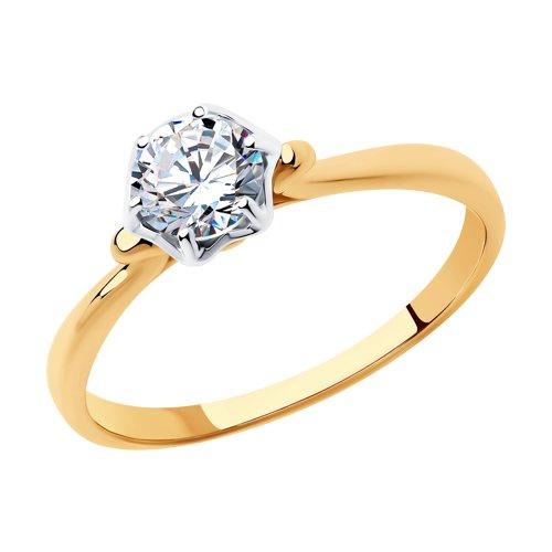 Кольцо женское SOKOLOV из золота со Swarovski Zirconia 81010454 р.17.5