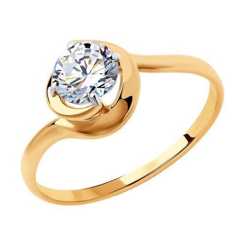 Кольцо женское SOKOLOV из золота со Swarovski Zirconia 81010451 р.16.5
