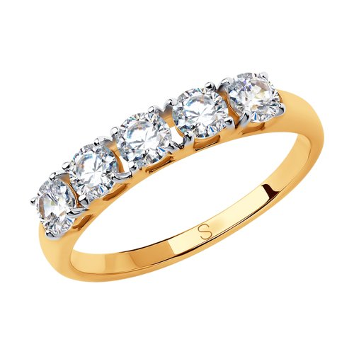 Кольцо женское SOKOLOV из золота со Swarovski Zirconia 81010444 р.18