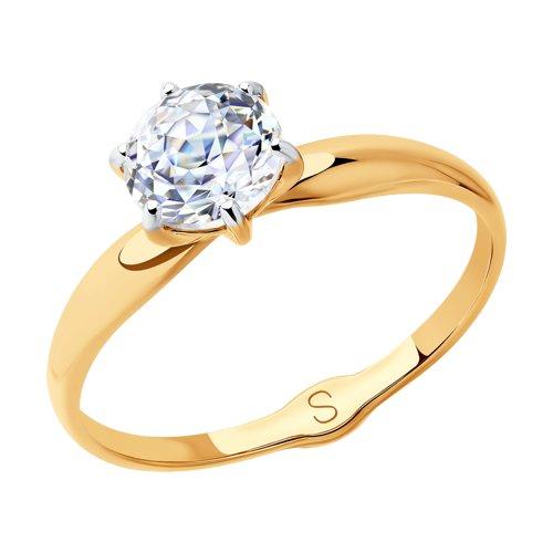 Кольцо женское SOKOLOV из золота со Swarovski Zirconia 81010424 р.18