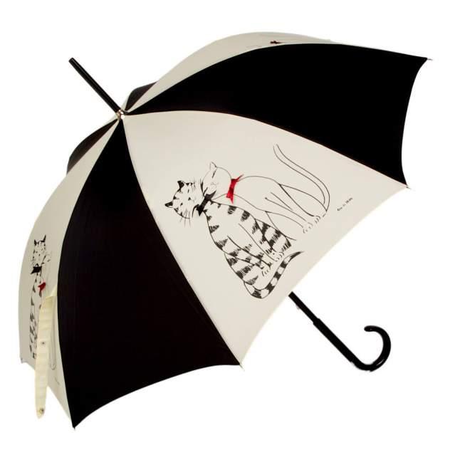 Зонт-трость женский механический Guy De Jean 1903-LM бежевый/черный