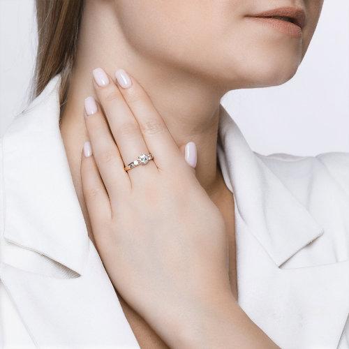 Помолвочное кольцо женское SOKOLOV из золота со Swarovski Zirconia 81010194 р.18.5