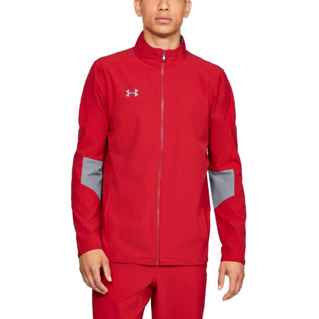 Куртка Under Armour Charger Warm Up Woven Full Zip, 600 красная, MD