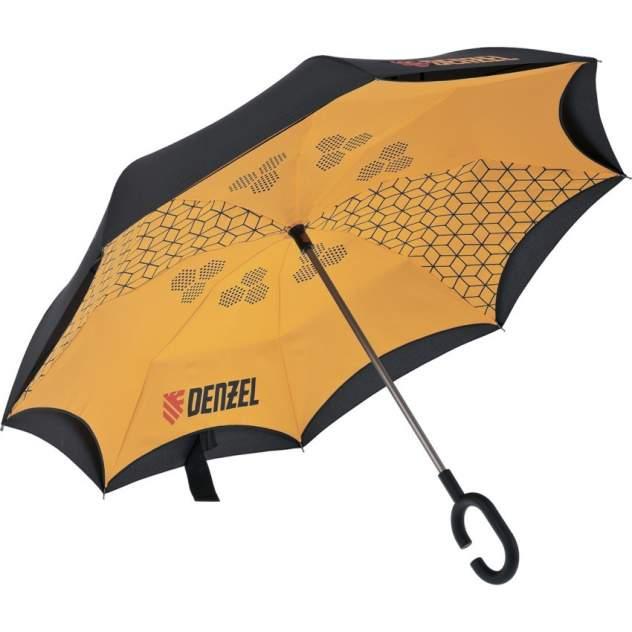 Зонт обратный унисекс механический Denzel 69706 оранжевый/черный